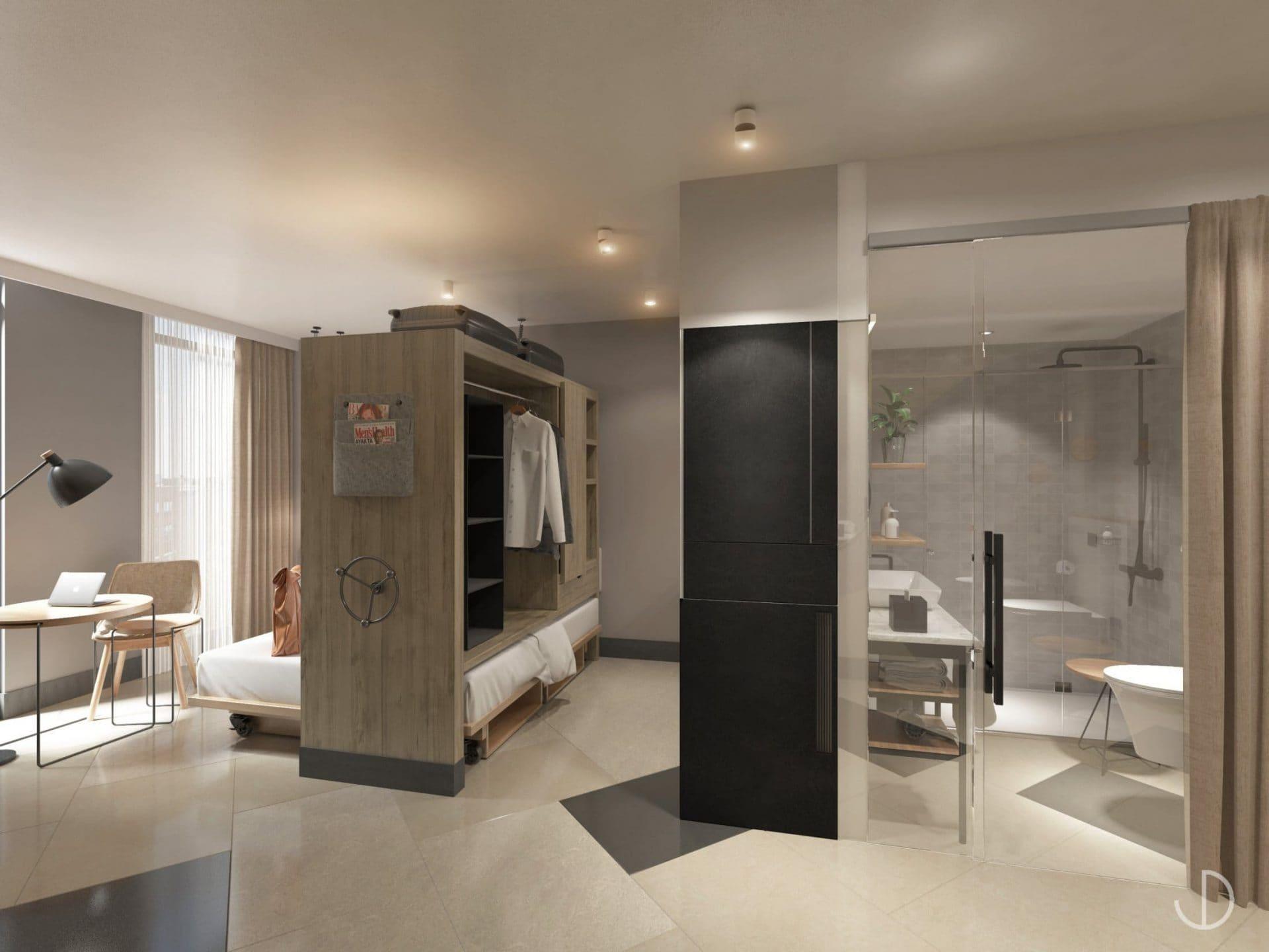 Kooook suites with hideaway kitchen