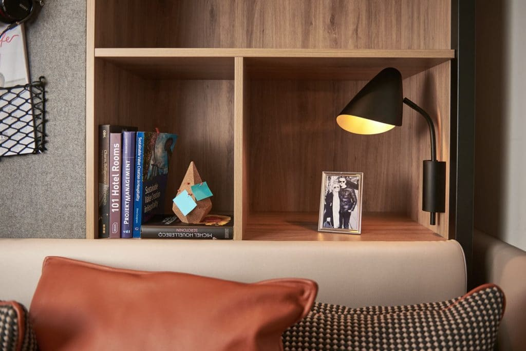 Books and decor at Bern Long stay studios