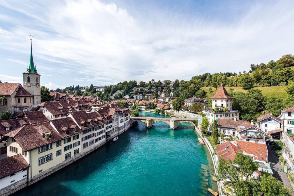 Beautiful views over Bern, Switzerland, Bern views from Kooook accommdation